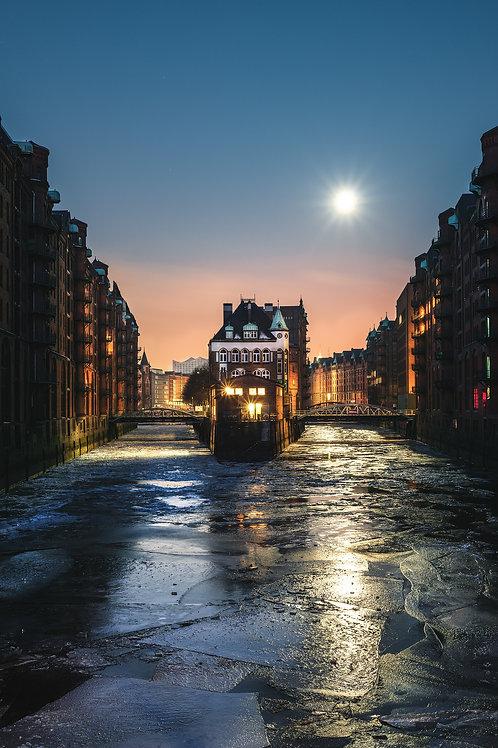 Hamburg - Eisschollen