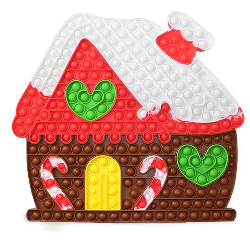 Large Christmas Gingerbread House Pop It Jigsaw
