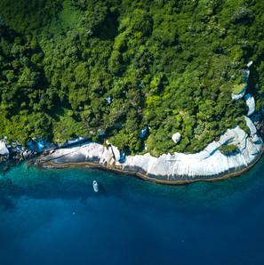 Foto aerea, Arquipélago dos Alcatrazes. 2018