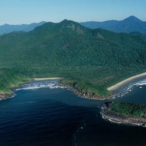 Praia de Parnapuã, Brava, e Juquiá e Ilha do Boquete na Estação Ecológica Juréia-Itatins/SP