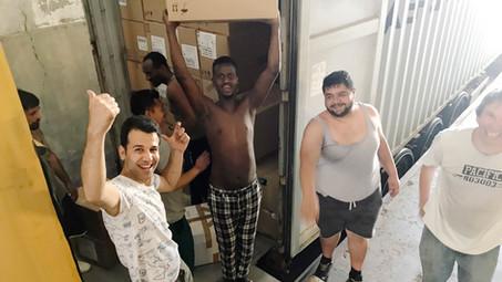 Container nach Jordanien