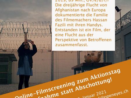 Online- Filmscreening zum Aktionstag Aufnahme statt Abschottung!