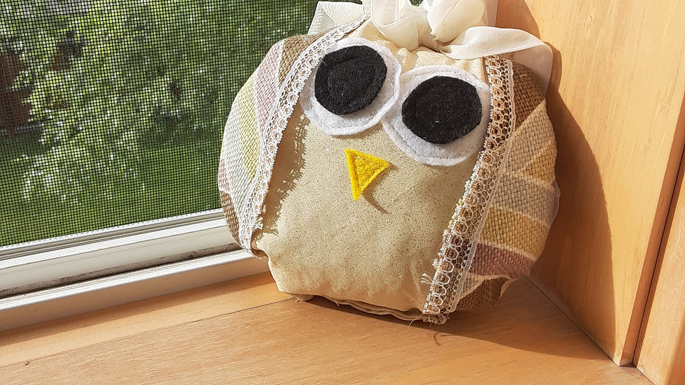 handmade stuffed owl