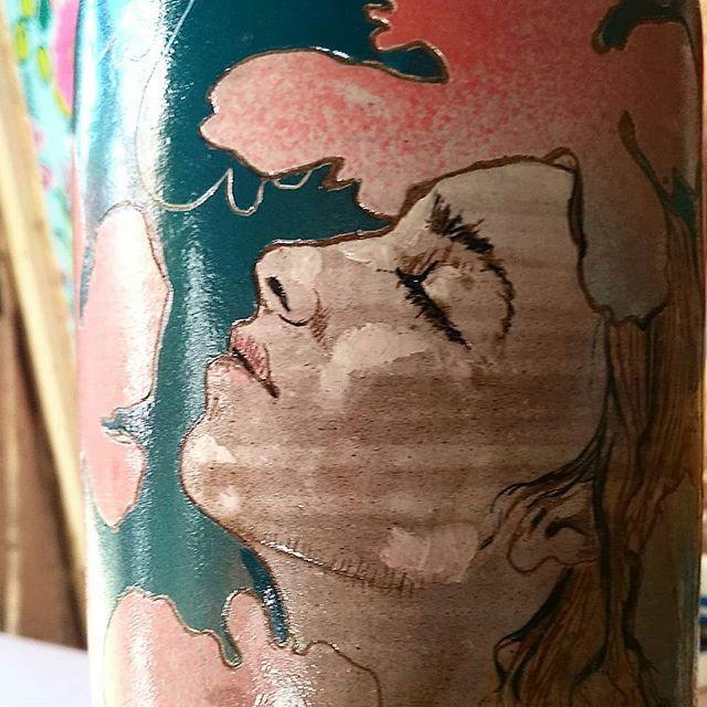 Vase grès émaillé, 30 cm  #artisanatfran