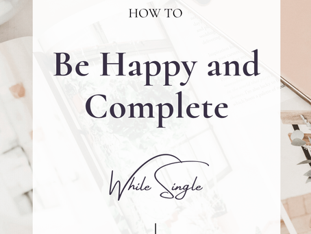 How to Be Happy While Single