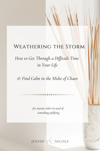 Weathering the storm when life gets messy   How to get through a difficult time in your life and find calm in the midst of chaos.