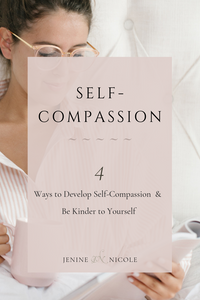 4 ways to practice self-compassion and be kinder to yourself in difficult times or when you're faced with personal shortcomings & failures. Practicing these self-compassion techniques on a daily basis will also help you develop a more pateint and understanding tone in your regular self-talk and tame your inner critic.