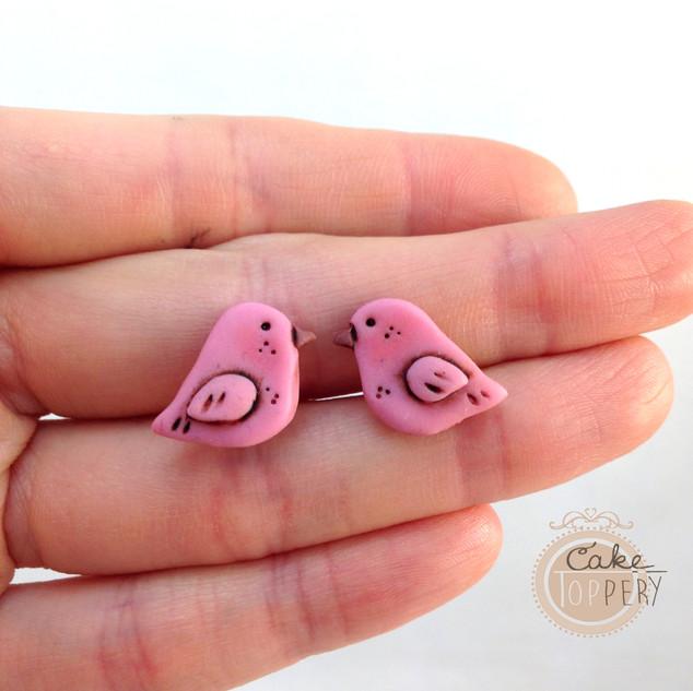 rosa Vögel aus FIMO