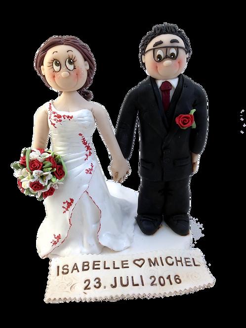 klassisches Brautpaar für die Hochzeitstorte