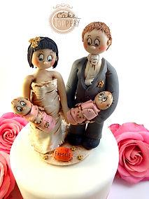 Klassischer Hochzeits Cake Topper