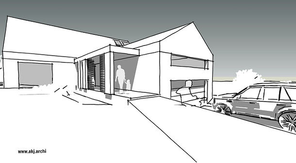 akj, architekt, jaraszkiewic, koncepcja. dom jednorodzinny, lublin, motycz