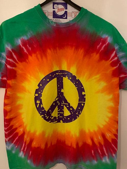 Tie Dyed Peace Shirt ~ Men's Size XL