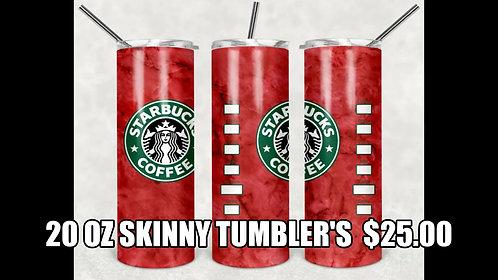 20 oz. Skinny Tumblers Starbucks Coffee
