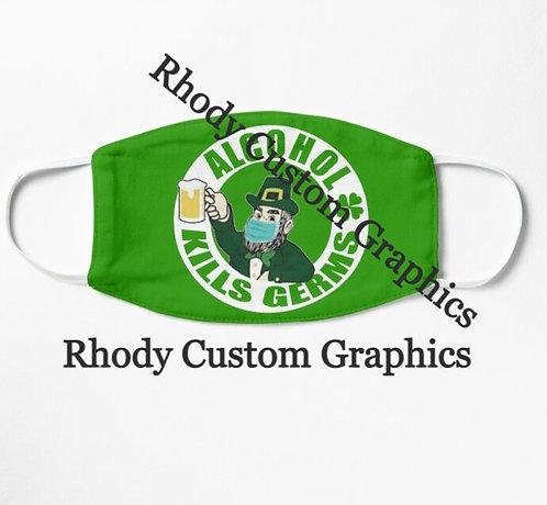 St. Patrick's Day Custom Face Mask