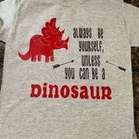 Dinosaur , Kids Tee Shirt , Sublimation , Vinyl