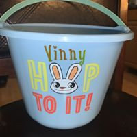 Kids Easter Buckets , Vinyl , Custom Design