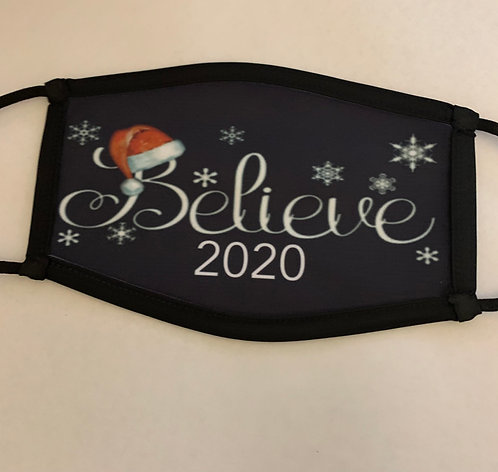 Believe Christmas Face Mask 2020