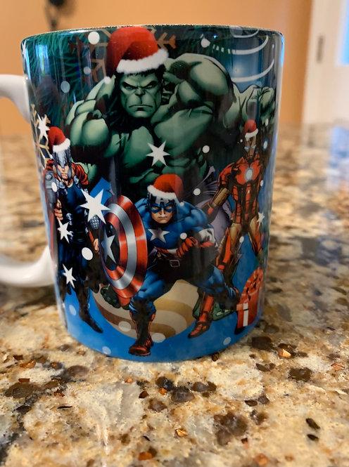 Marvel Cartoon Christmas Coffee Mug