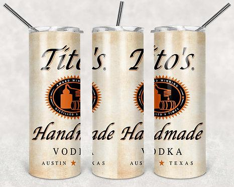 Tito's Handmade Vodka 20 oz. Skinny Tumblers