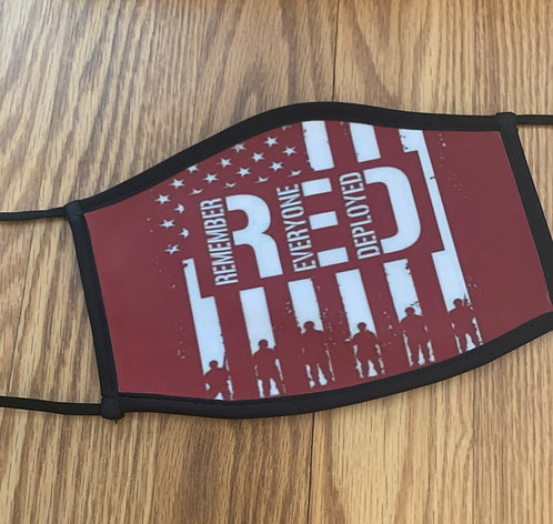 Red Friday Military Face Mask