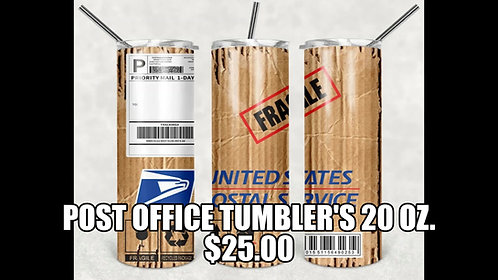 20 oz. Skinny Tumblers Post Office