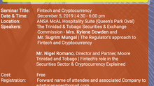 EDUCATION THROUGH INFORMATION - AN SDATT SEMINAR ON FINTECH & CRYPTOCURRENCY