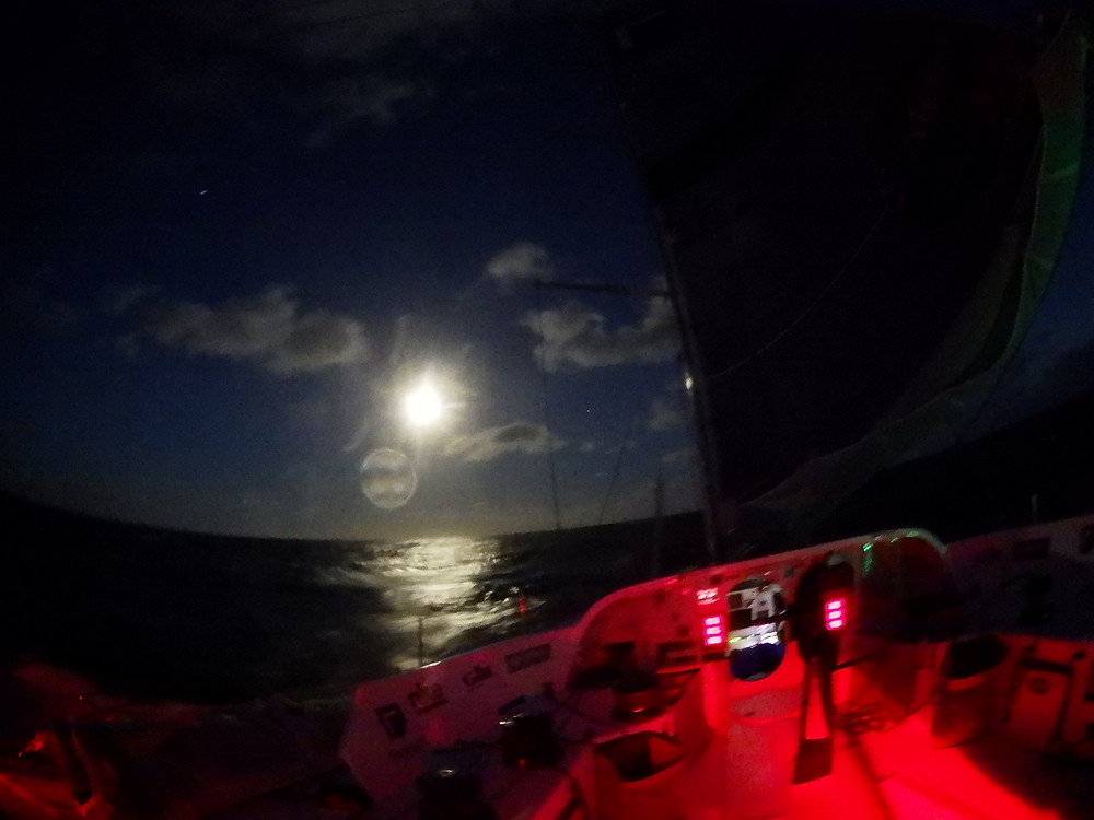 Moonlight sail in the Atlantic © Conrad Colman Foresight Natural Energy #Vendée Globe