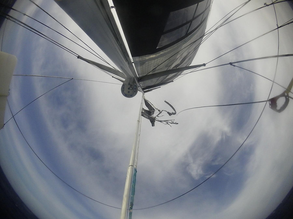 Last part of the jib © Foresight Natural Energy #Vendée Globe