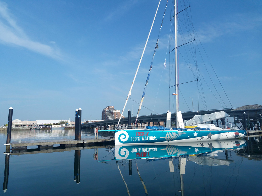 100% Natural Energy at the dock in Newport © Conrad Colman Ocean Racing