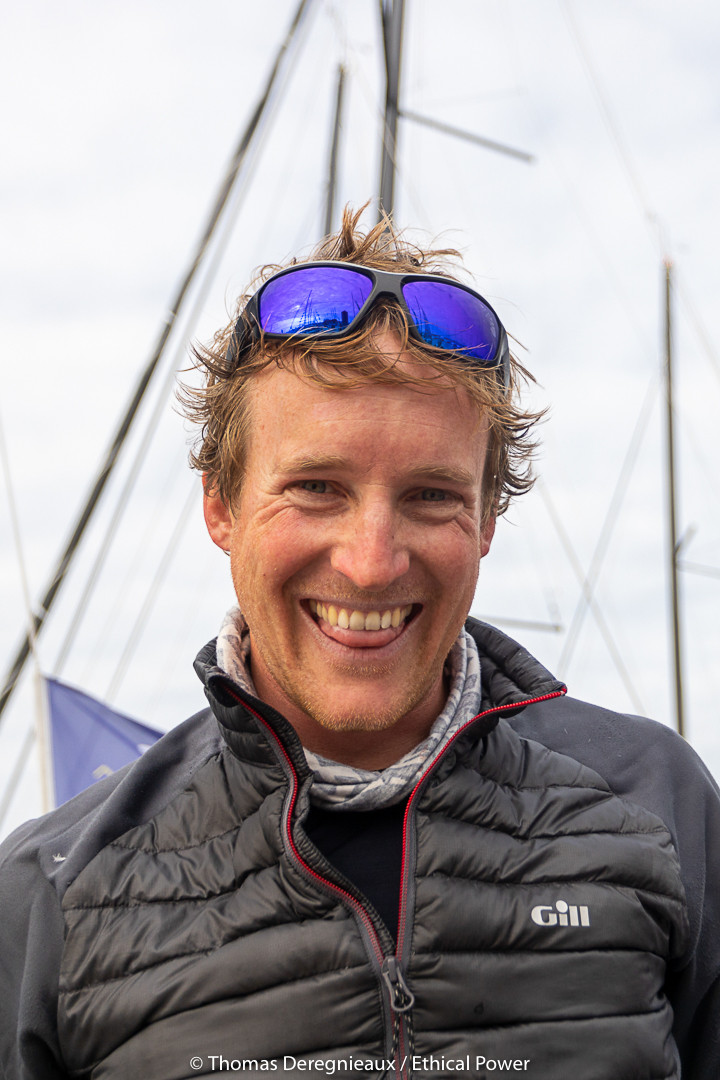 Conrad Colman still smiling at the arrival of stage 3 of the Solitaire 2019 © Thomas Deregnieaux