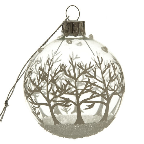 Mini Winter Forest Glass Bauble