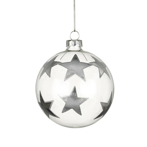 Silver Stars Bauble
