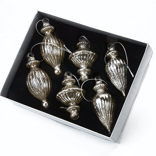 Silver Glass Miniature Bauble