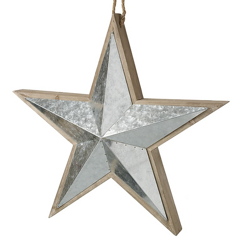 Wood & Silver Star