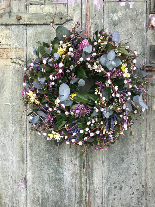Fresh spring flowers willow a fresh spring door wreath that will surely be the envy of the neighbourhood exclusively designed by adoremydoor for spring 2018 adore your door with this mightylinksfo