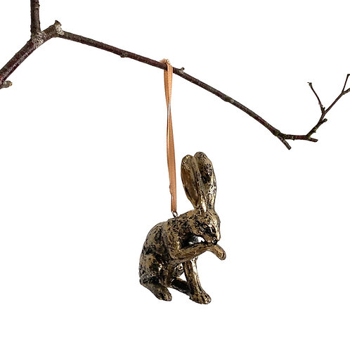 Hanging Bronze Effect Hare