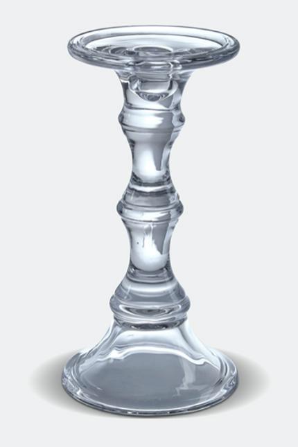 Glass Pillar Candleholder
