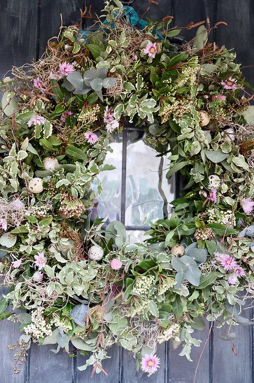 Foraged Spring Door Wreath