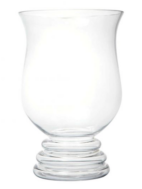 Double Footed Glass Vase