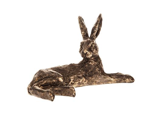 Resting Bronze Effect Hare