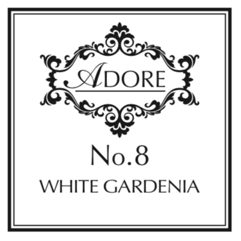 No.8 White Gardenia Candle