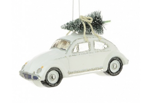 White Beetle Bauble