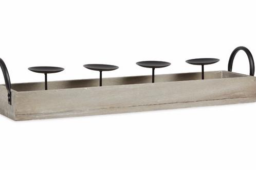 Wooden Trough Candleholder