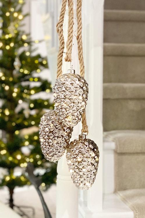 LED Hanging Pine Cone