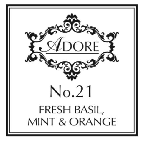 No 21. Fresh Basil, Mint & Orange Candle