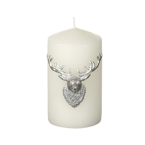 Deer Head Pillar Candle