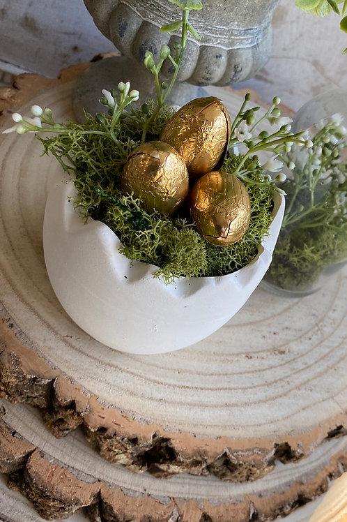 Ceramic White Egg Cup