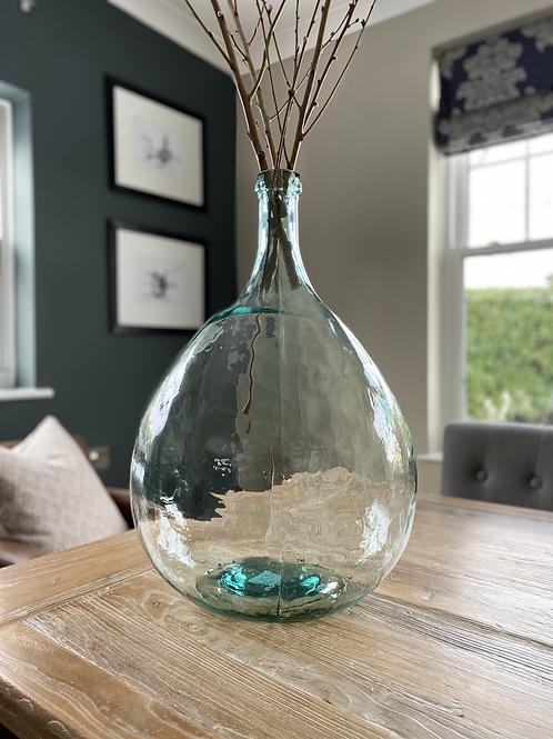 Round Glass Bottle Vase