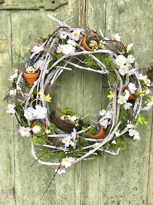 Adore Spring Faux Door Wreath