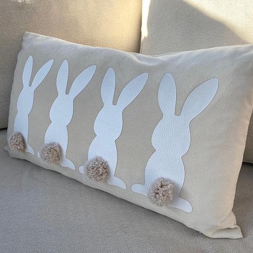 Handmade Linen Bunny Cushion
